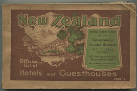 New Zealand - Official List of Hotels and Guest Houses 1930-1931, 1930