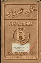 Barnes Upright Drills and other machine tools, catalogue No. 68, Jan. 15, 1909, 1909