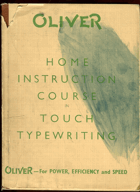 Home instruction course in touch typewriting, neuvedeno