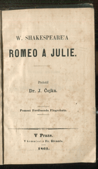 Shakespeare, William: Romeo a Julie, 1861