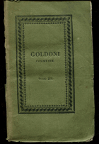 Goldoni, Carlo: Commedie, vol. XIV, 1824