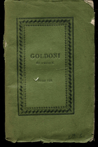 Goldoni, Carlo: Commedie, vol. VIII, 1823