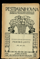 Montesquieu, Charles Louis de Secondat: Perské listy, 1920