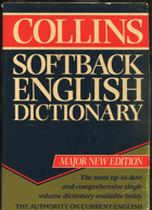 Collins softback English dictionary, 1992