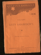 Voltaire: Listy Amabedovy, 1926
