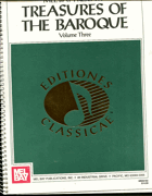 Grimes, David: Mel Bay presents Treasures of The Baroque - Volume Three - a Collection of music from Baroque ..., 1993