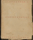 Norwid, Cyprian Kamil: Legendy a novely, 1921