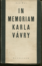 Jan, Bor: In memoriam Karla Vávry, 1931