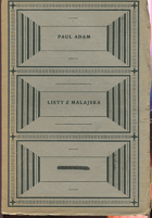 Adam, Paul: Listy z Malajska, 1920